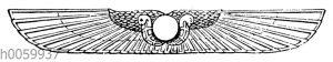 Sog. geflügelte Sonnenscheibe