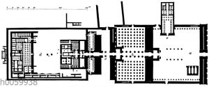 Amuntempel zu Karnak. Grundriss