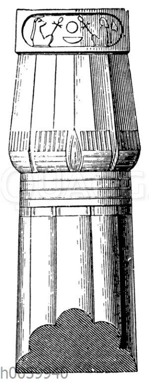 Säule von Medinet-Habu