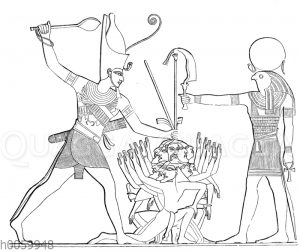 König (Ramses II.?) tötet seine Feinde