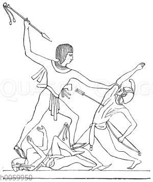 König Sethos tötet feindliche Anführer