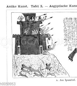 Ramses II. mit seinen Söhnen erobert eine Bergfestung