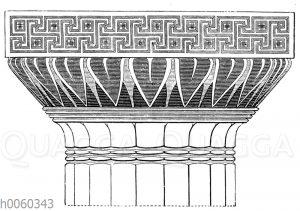 Bemaltes dorisches Kapitell