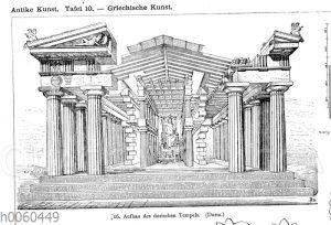 Aufbau des dorischen Tempels