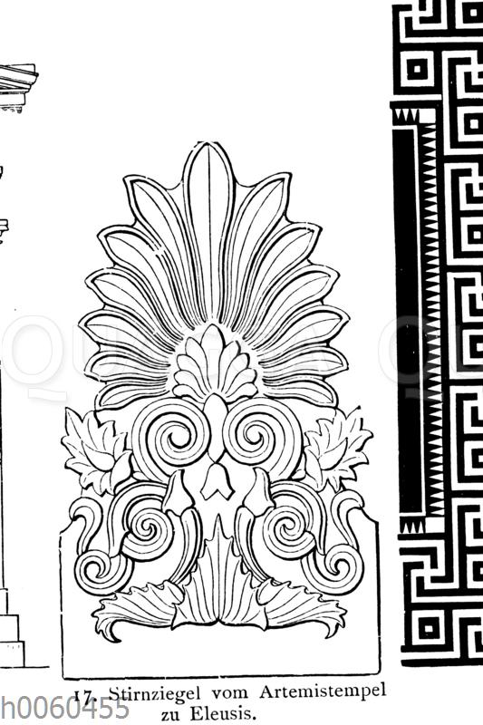 Stirnziegel vom Artemistempel zu Eleusis