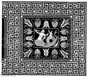 Mosaikfußboden im Tempel zu Olympia