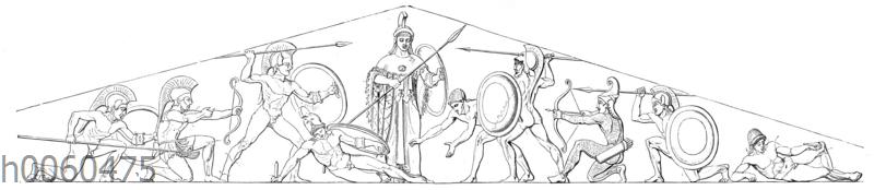 Giebelgruppe vom Athenetempel zu Ägina