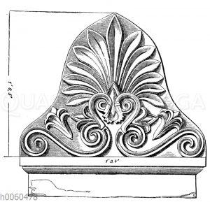 Bekrönung einer griechischen Grabstele