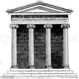 Tempel der Nike apteros zu Athen. Vorderansicht
