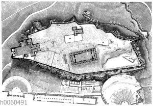 Plan der Akropolis. (Nach Kaupert)