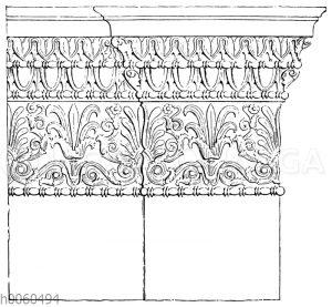 Kapitell der attisch-ionischen Ante und Wand. (Erechtheion.)