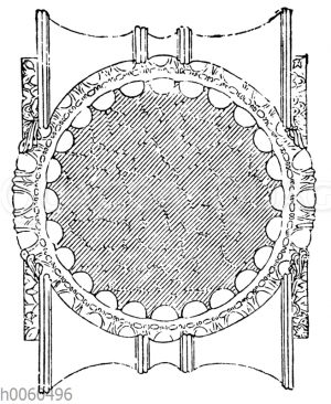 Ionisches Kapitell. Grundriss