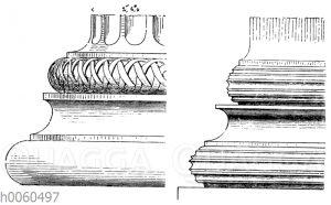 Attisch-ionische Säulenbasen