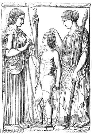 Relief von Eleusis. Athen