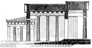 Durchschnitt der Propylaeen. Athen. Restauriert. Nach Bühlmann