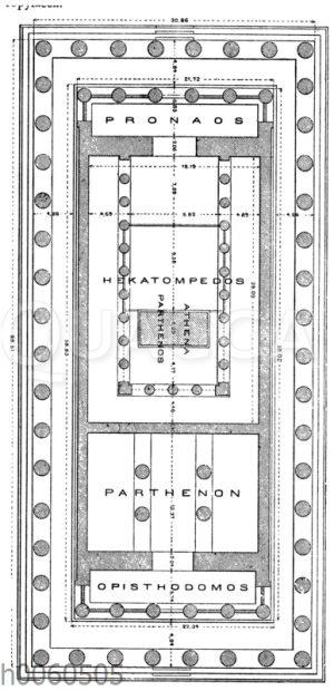 Grundriss des Parthenon