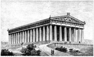 Parthenon von Westen