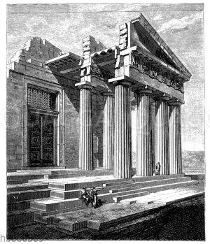 Parthenon: Aufbau der Nordostecke