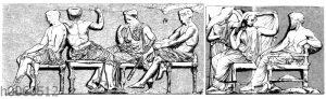 Parthenon: Linke Göttergruppe vom Ostfries
