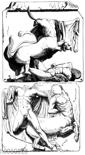 Parthenon: Zwei Metopen von der Südseite