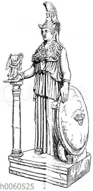 Marmorstatuette den Athena Parthenos