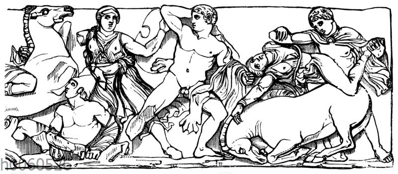 Vom Friese des Tempels des Apollon Epikurios bei Phigalia