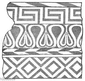 Giebelsimafragment des Schatzhauses von Gela