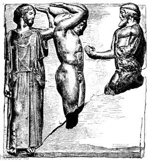 Atlas-Metope vom Zeustempel zu Olympia