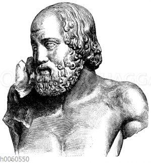 Sitzender Greis vom Ostgiebel des Zeustempels zu Olympia