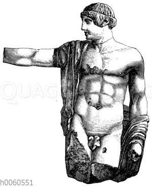Mittelfigur (Apollo?) vom Westgiebel des Zeustempels zu Olympia