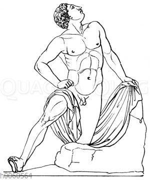 Die Niobiden in den Uffizien zu Florenz