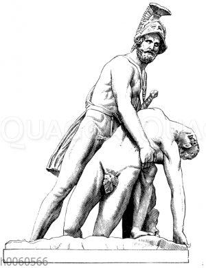 Menelaos und Patroklos