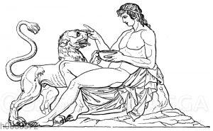 Reliefstück vom Denkmal des Lysikrates