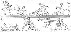 Reliefstücke vom Denkmal des Lysikrates zu Athen
