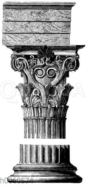 Säule vom Denkmal des Lysikrates zu Athen