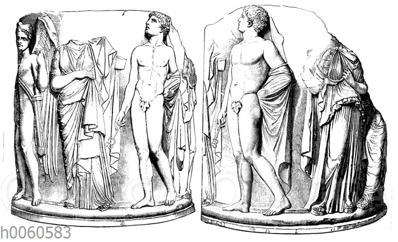 Relief an einer columna caelata vom Artemision zu Ephesus
