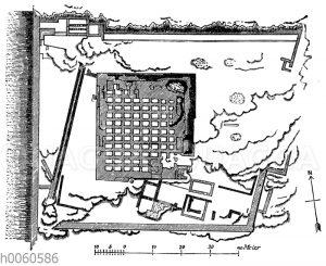 Marktplatz zu Pergamon und Fundamente des großen Altars