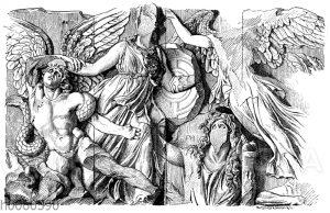 Athena-Gruppe. Relief von Pergamon