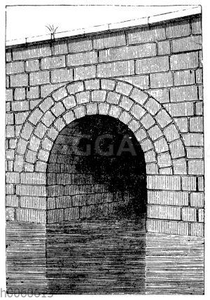 Mündung der cloaca maxima in Rom