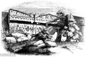 Grabfassade zu Norchia