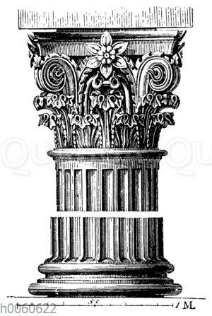 Römisch-korinthische Säule vom Rundtempel zu Tivoli