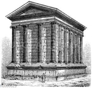 Tempel der Fortuna virilis in Rom. Rückseite