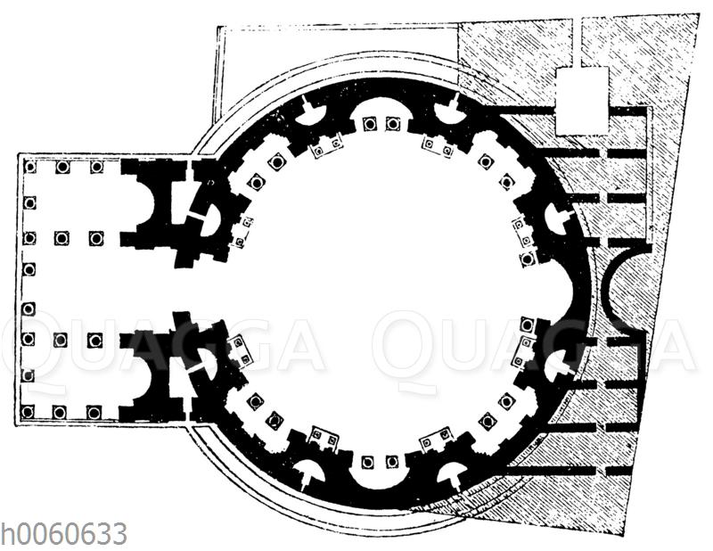 Pantheon zu Rom. Grundriss