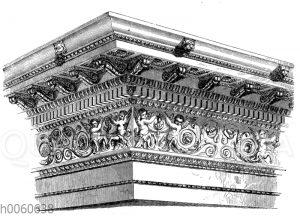 Römisch-korinthisches Gebälk