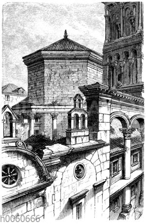 Teilansicht vom Palast des Kaisers Diokletian zu Spalato