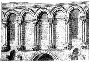 Von der Fassade des Palastes zu Spalato