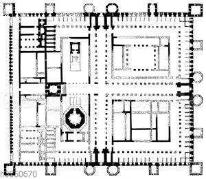 Palast des Diokletian zu Spalato. Grundriss