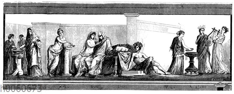 Aldobrandinische Hochzeit. Wandgemälde