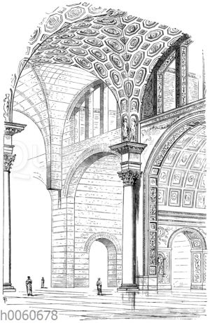 Römisches Kreuzgewölbe. Basilika des Constantin