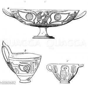 Antike Schalen und Trinkgefäße